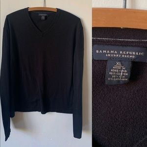 Men's Black V Neck Banana Republic Sweater